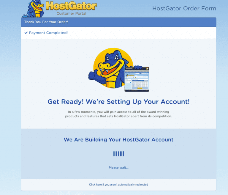 Processing Your Order