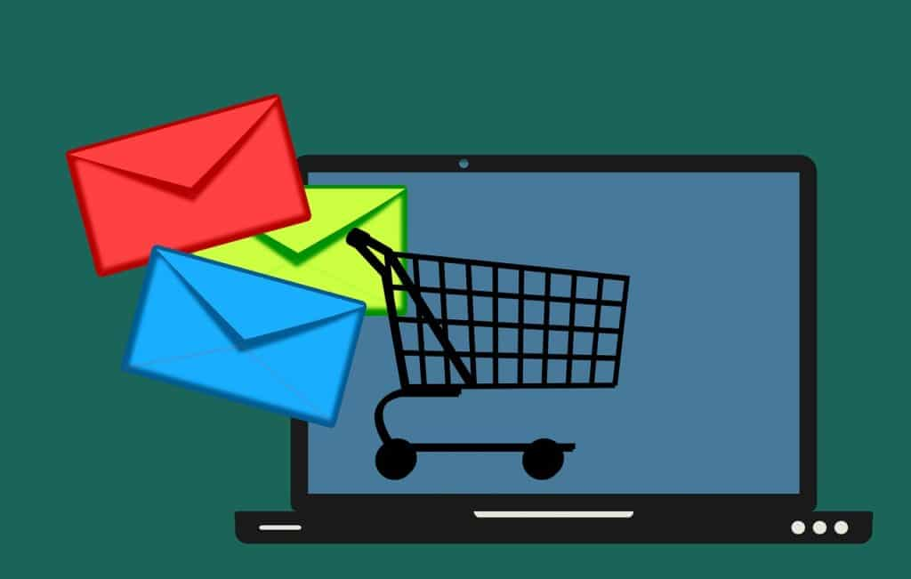email, shopping, cart